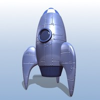 3d spaceship space rocket