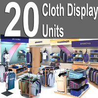 20 low poly cloth display furniture