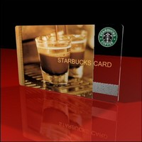 starbucks gift card 3d model