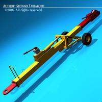 3d airport tow bar model