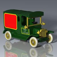3d vintage sales truck car model