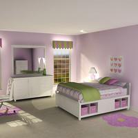3dsmax girl s bedroom suite