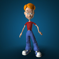 boy cartoon c4d