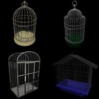 bird cages 3d model