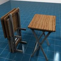 3d model folding tray set