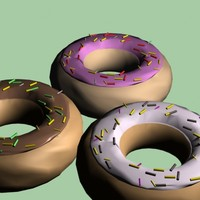 3d snack foods donuts model