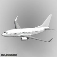 maya b737-600 generic white 737