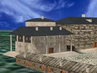 3d castle house model