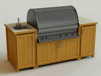 grill outdoor modelled 3d model