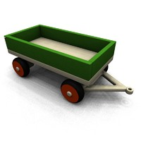 3d model of wooden toy