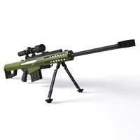 dwg barrett m82 rifle m82a1m