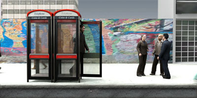MeAnPhoneCabin01-CS/ Business Man on a Public Phone for 3DSMax 8