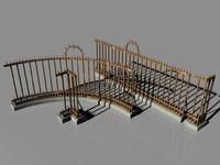 iron fence 3d c4d