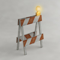 Safety barricade with flashing light