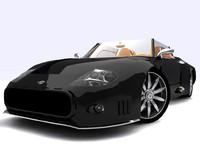 3d model sportcar spyker c12 spyder