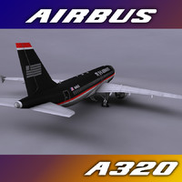 3ds max airbus a320 airways aircraft