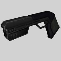 sci-fi weapon gun pistol 3d max