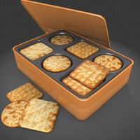 dry biscuits box 3d max