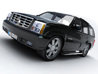 3d cadillac escalade suv car model