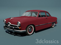 1949 custom club coupe 3d model