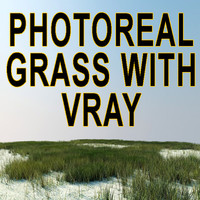 3d model photoreal grass scene