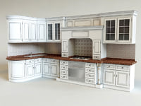 3d kitchen classic interior model