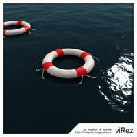 lifebuoy buoy 3d 3ds