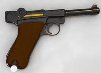 3d luger p08 model