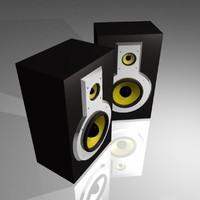 3d monitor speakers model