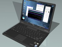 3d model sony vaio laptop