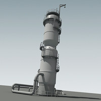 refinery tower 3d model