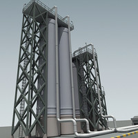 3ds max refinery tower
