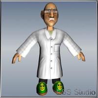 3dsmax scientist character cartoon