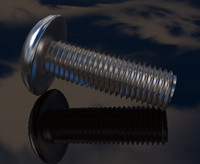 free c4d model machine screw