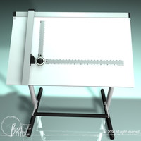 3d drafting table model