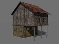 3d 2 story barn