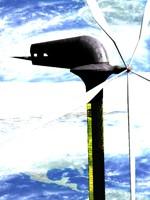 sci-fi skyscraper building wind turbine max