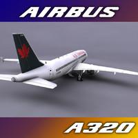 3d a320 air canada model