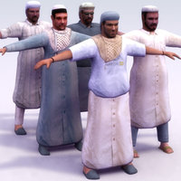 arab male 3d max
