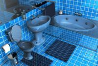 3d model of bathroom