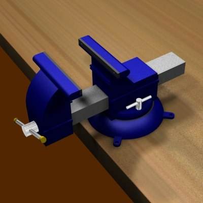 Bench Vise Animated bench vise