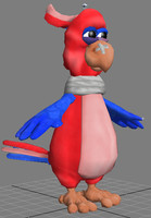 3d cartoon parrot