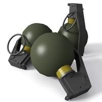 3d m67 fragmentation grenade