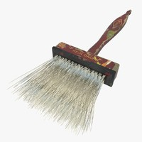 badger paint brush 3d model
