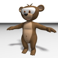 bear cartoon 3d ma