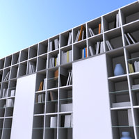 3d model bookcase book