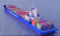 containership container ship 3d model