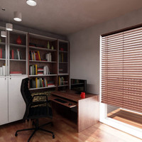 3ds max study room