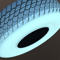 3ds max wheel tire