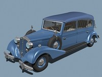 3d model horch 830bl car closed